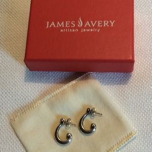 Retired James Avery Scroll Earrings